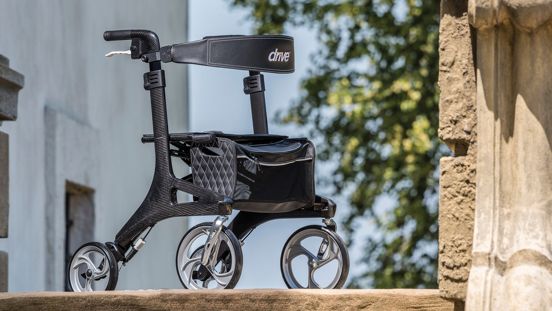 Nitro Elite CF- Carbon Fiber Rollator - Oakpointe Medical Products