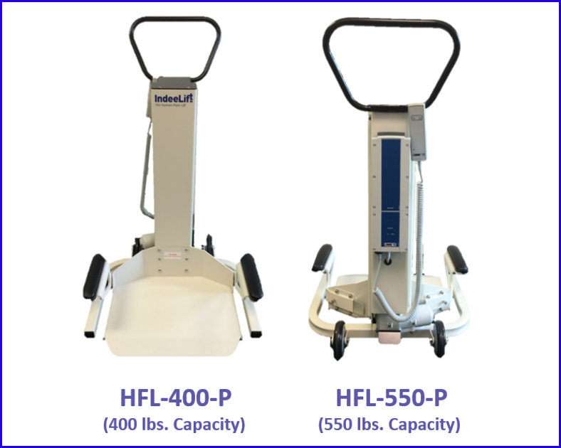 Professional Healthcare Models w Model Numbers and Weight Capacity on White Background w Blue Boarder - RCM083117
